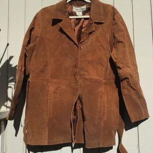 Genuine leather brown jacket
